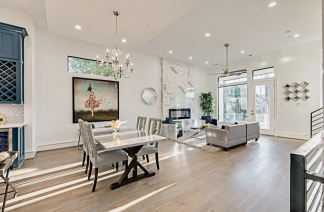Contemporary Staging in a Rice Military town home