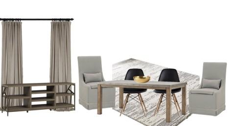 e-design modern rustic dining